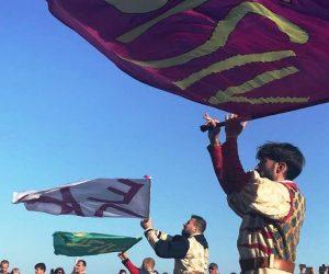 Австралийские танцоры и итальянские флагоносцы выступили на Ялтинской набережной