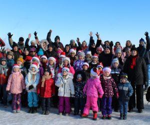 Ялтинские дети приветствовали жителей Альп с вершины Ай-Петри