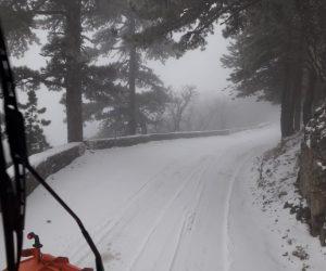 Автодорога Ялта – Ай-Петри перекрыта на время проведения снегоуборочных работ