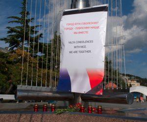 Ялтинцы выразили соболезнования жителям Ниццы